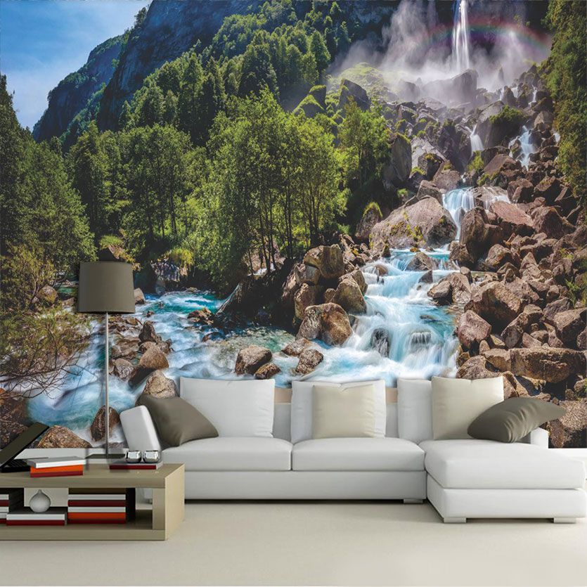 Papel De Parede 3D | Cachoeiras 0002 - papel de parede paisagem  - Paredes Decoradas
