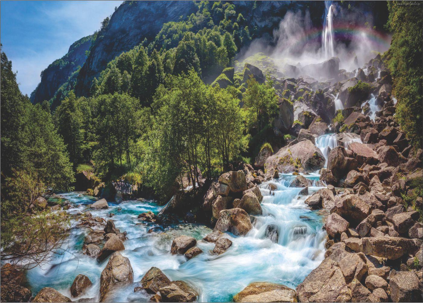 Papel De Parede 3D   Cachoeiras 0002 - papel de parede paisagem  - Paredes Decoradas