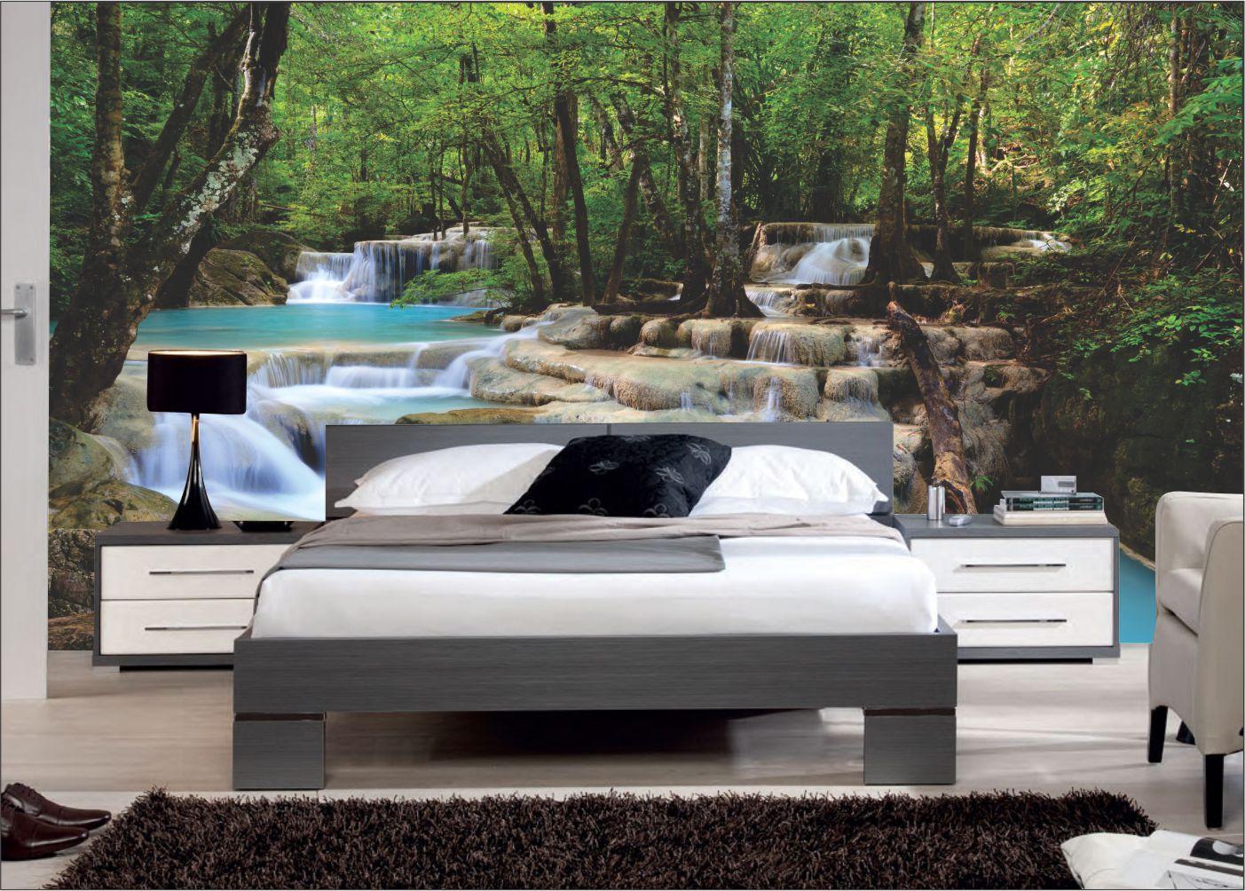 Papel De Parede 3D | Cachoeiras 0003 - papel de parede paisagem  - Paredes Decoradas