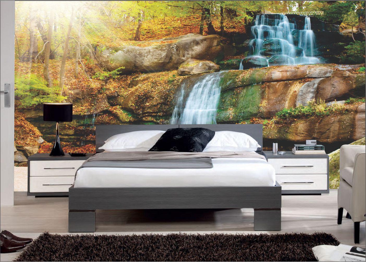 Papel De Parede 3D | Cachoeiras 0004 - papel de parede paisagem  - Paredes Decoradas