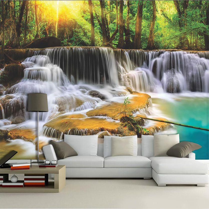 Papel De Parede 3D | Cachoeiras 0005 - papel de parede paisagem  - Paredes Decoradas