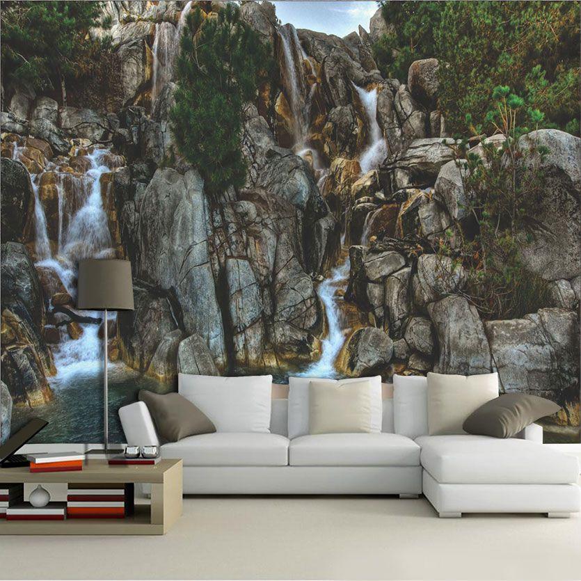 Papel De Parede 3D | Cachoeiras 0007 - papel de parede paisagem