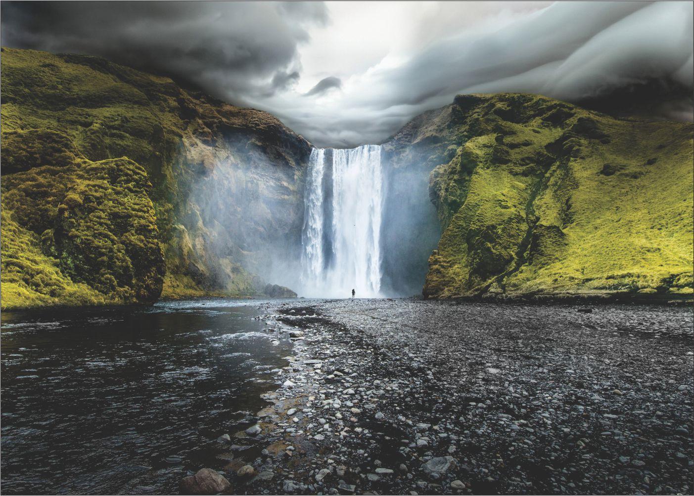 Papel De Parede 3D | Cachoeiras 0008 - papel de parede paisagem  - Paredes Decoradas