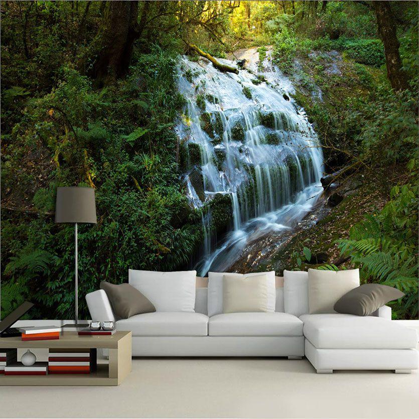 Papel De Parede 3D | Cachoeiras 0010- papel de parede paisagem