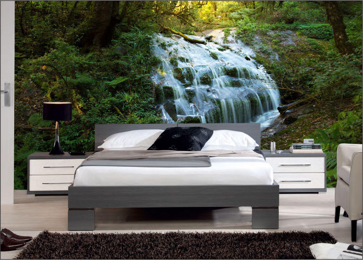 Papel De Parede 3D | Cachoeiras 0010- papel de parede paisagem  - Paredes Decoradas