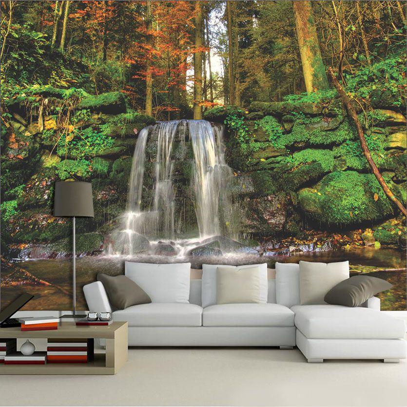 Papel De Parede 3D | Cachoeiras 0011 papel de parede paisagem