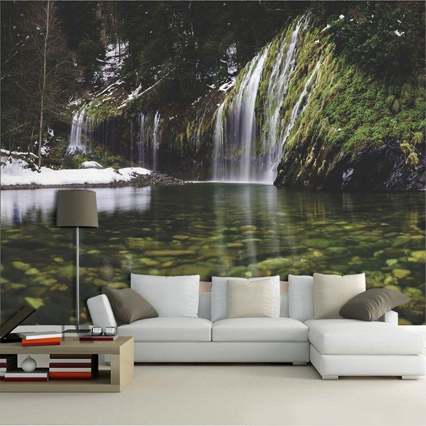 Papel De Parede 3D | Cachoeiras 0012- papel de parede paisagem  - Paredes Decoradas