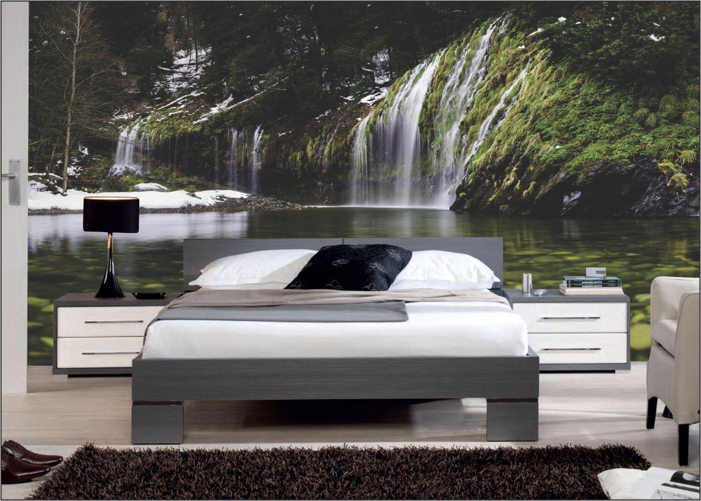 Papel De Parede 3D | Cachoeiras 0012- papel de parede paisagem