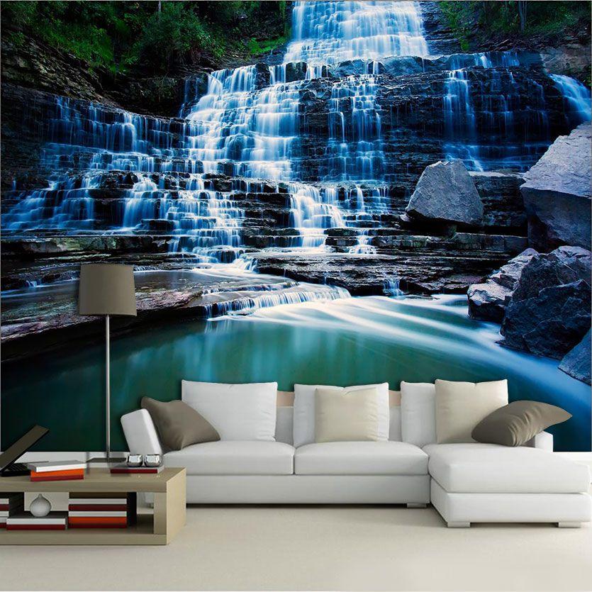 Papel De Parede 3D | Cachoeiras 0013- papel de parede paisagem