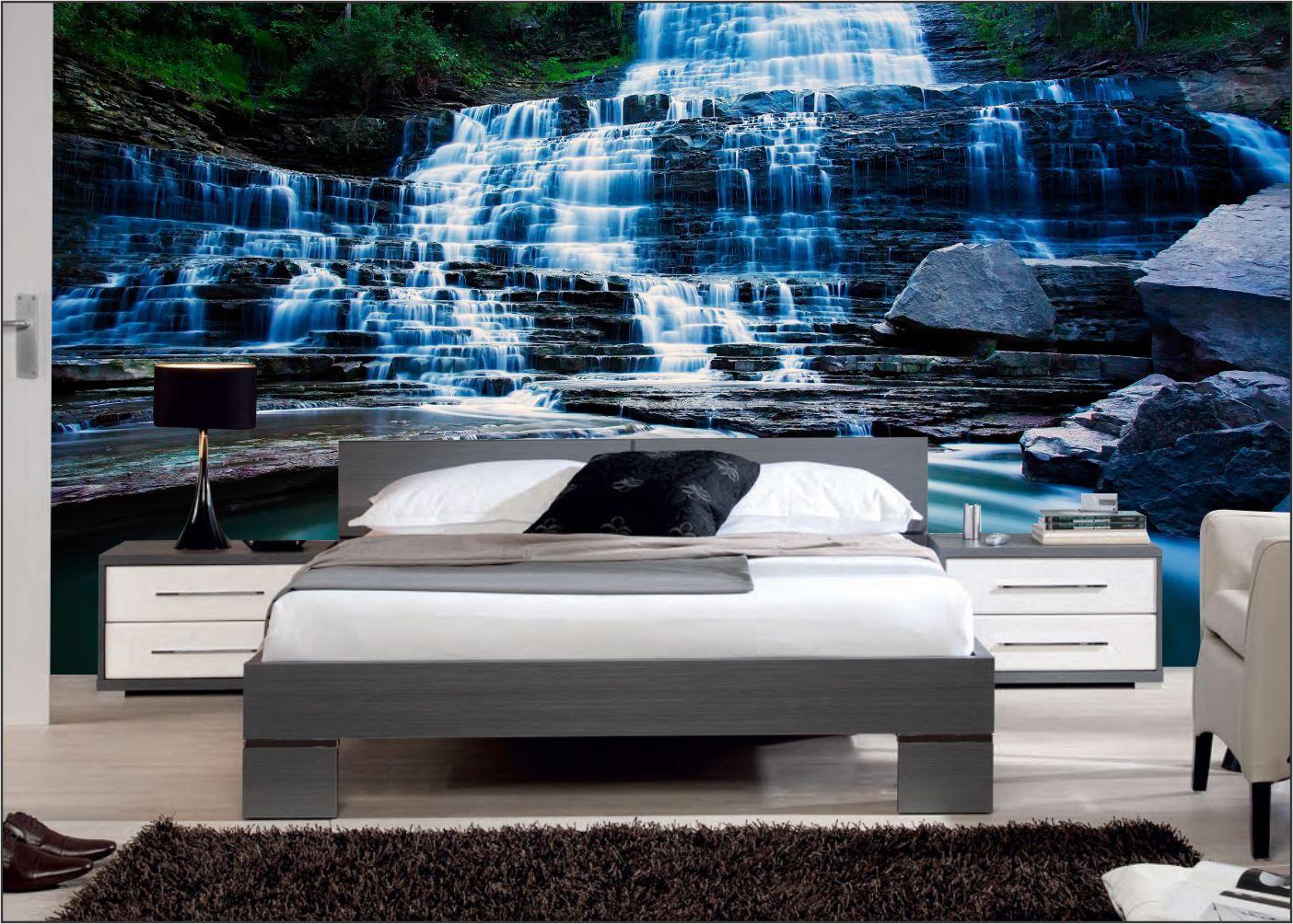Papel De Parede 3D | Cachoeiras 0013- papel de parede paisagem  - Paredes Decoradas