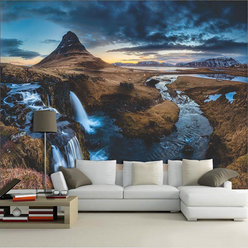 Papel De Parede 3D | Cachoeiras 0014- papel de parede paisagem