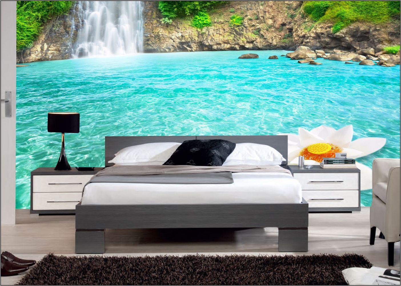 Papel De Parede 3D | Cachoeiras 0015- papel de parede paisagem  - Paredes Decoradas