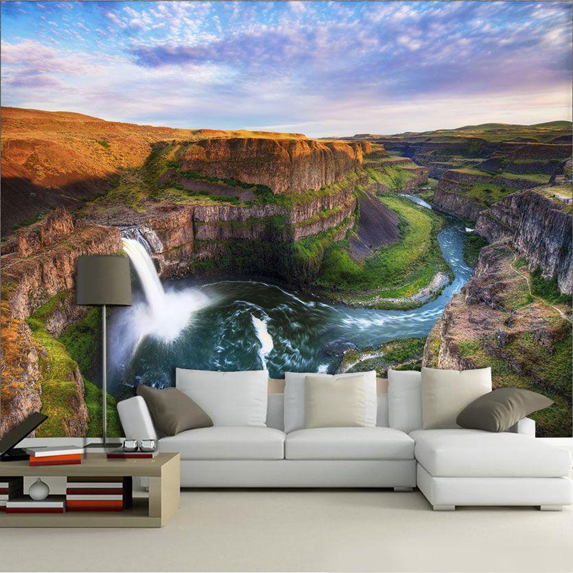 Papel De Parede 3D | Cachoeiras 0016- papel de parede paisagem