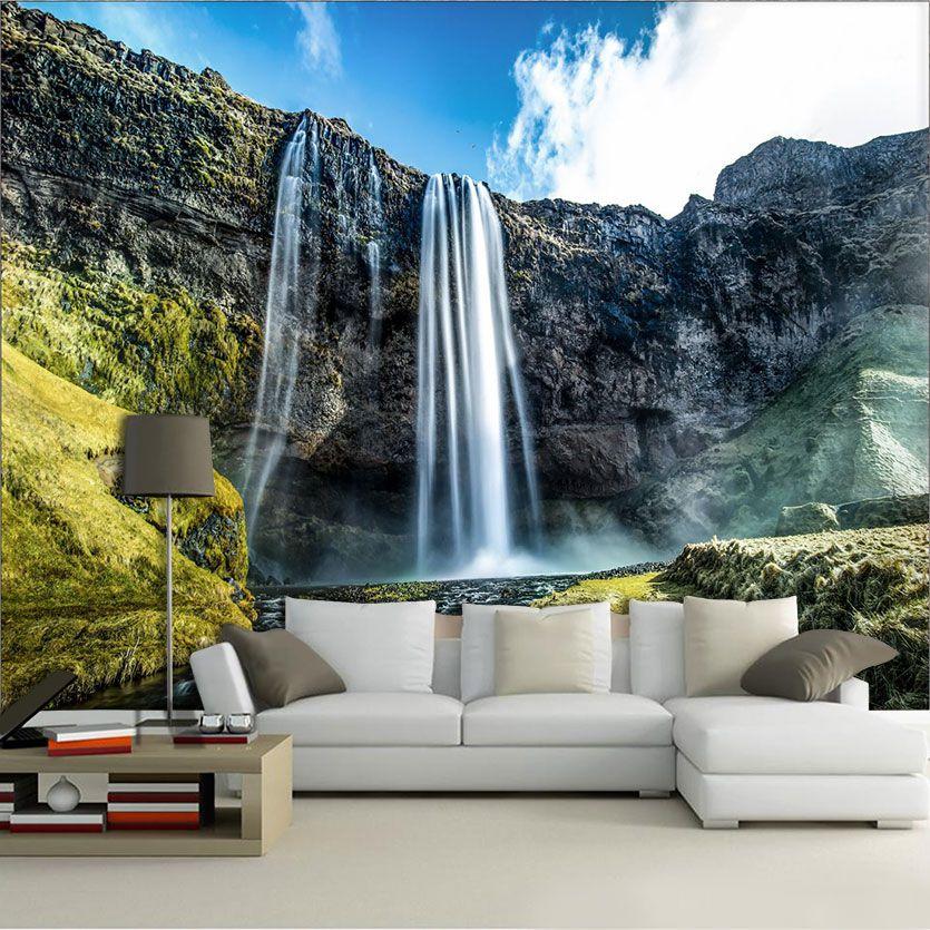 Papel De Parede 3D | Cachoeiras 0018 - papel de parede paisagem