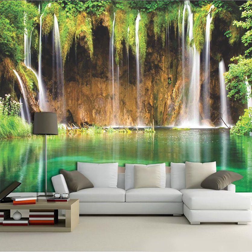 Papel De Parede 3D | Cachoeiras 0019- papel de parede paisagem