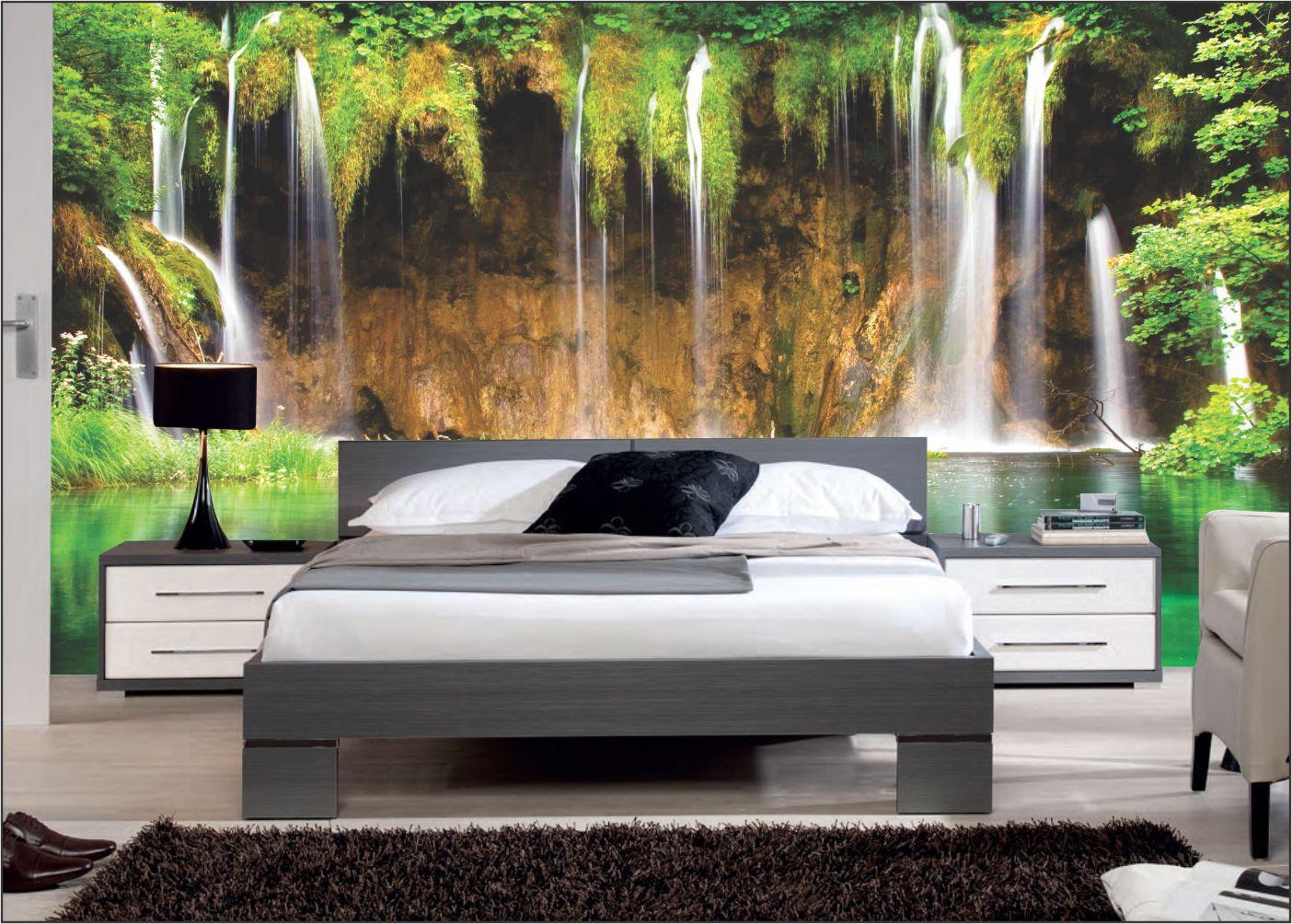 Papel De Parede 3D | Cachoeiras 0019- papel de parede paisagem  - Paredes Decoradas