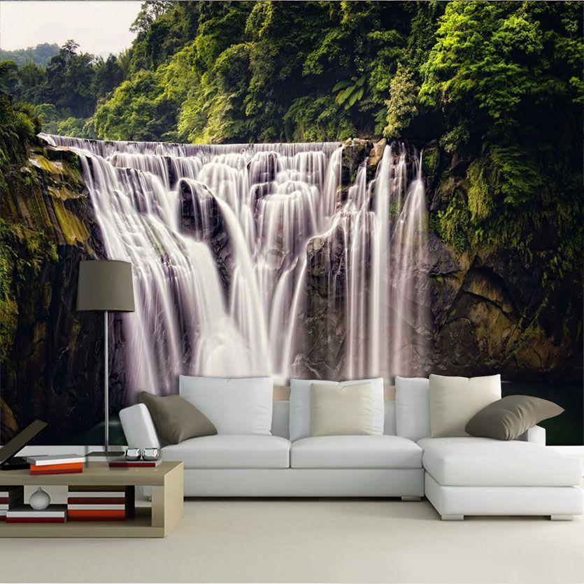 Papel De Parede 3D | Cachoeiras 0020- papel de parede paisagem