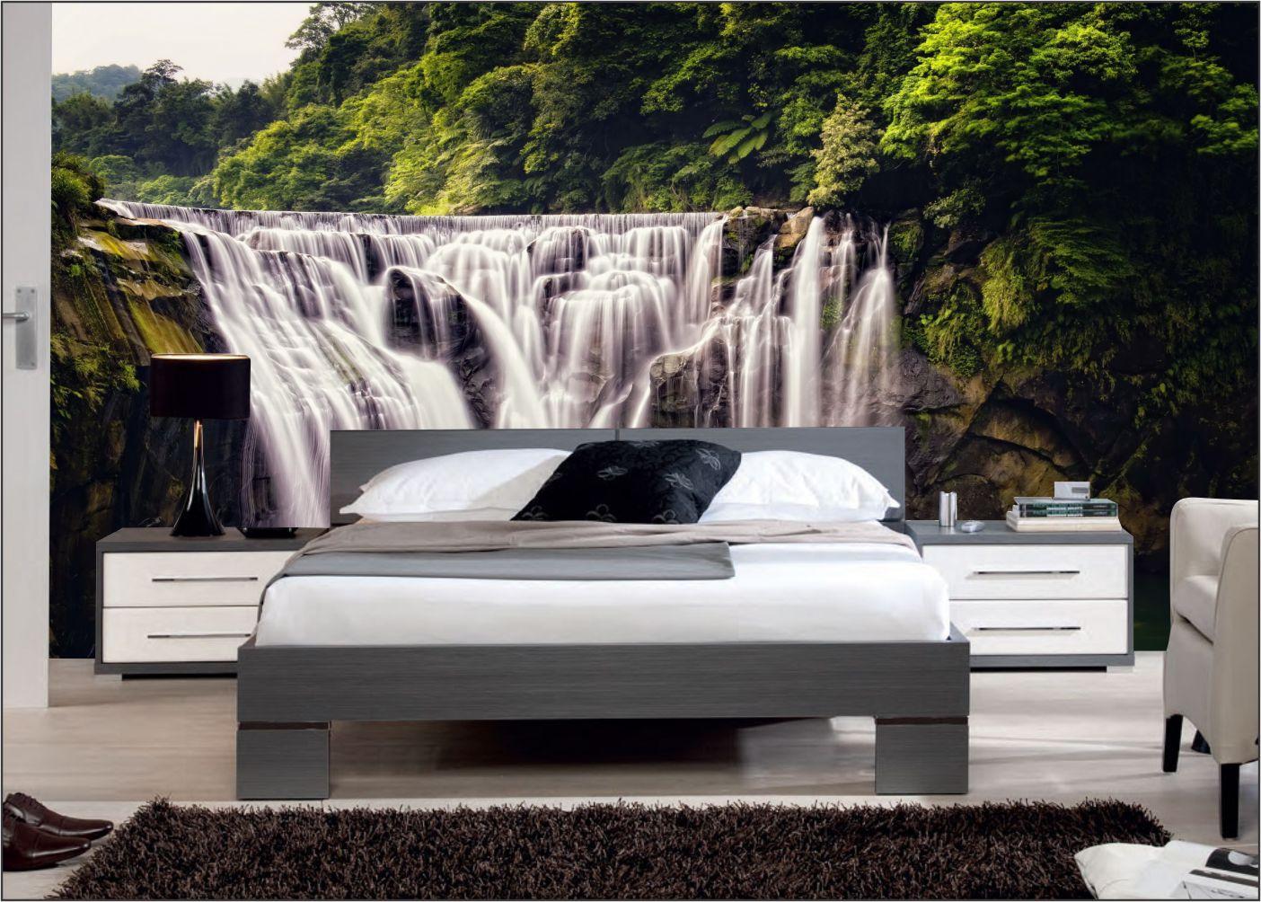 Papel De Parede 3D | Cachoeiras 0020- papel de parede paisagem  - Paredes Decoradas