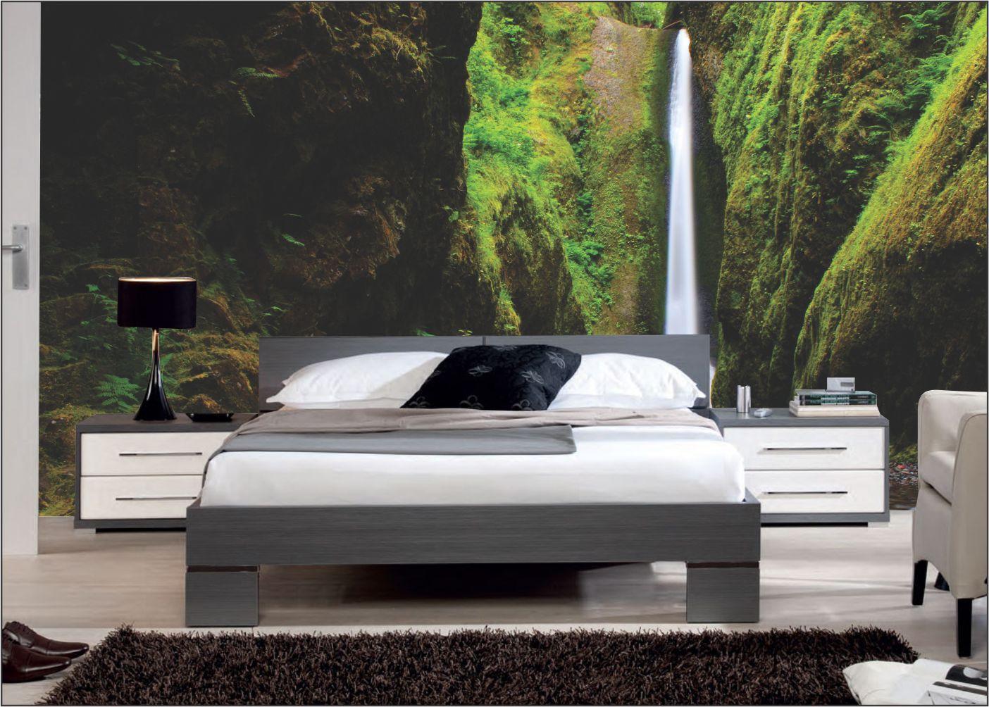Papel De Parede 3D   Cachoeiras 0022 - papel de parede paisagem  - Paredes Decoradas