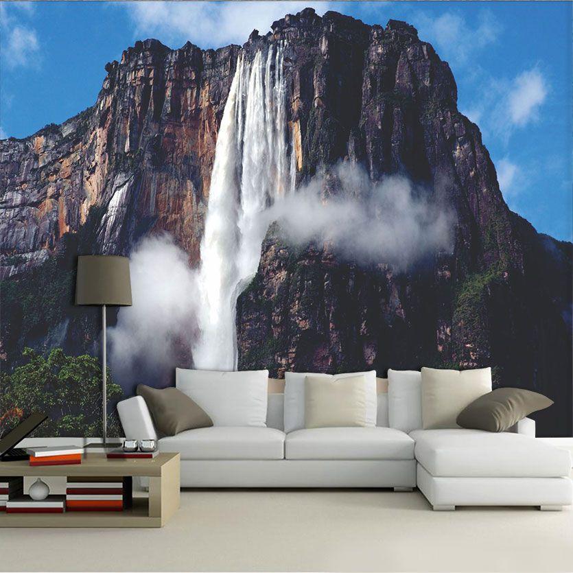Papel De Parede 3D | Cachoeiras 0023 - papel de parede paisagem
