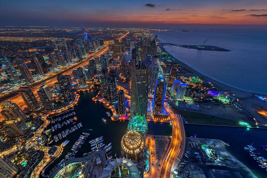 Papel De Parede 3D | Cidades Dubai 0001 - Adesivo de Parede  - Paredes Decoradas