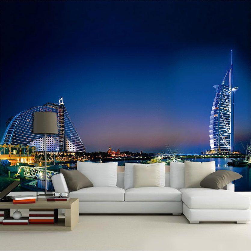 Papel De Parede 3D | Cidades Dubai 0004 - Adesivo de Parede  - Paredes Decoradas