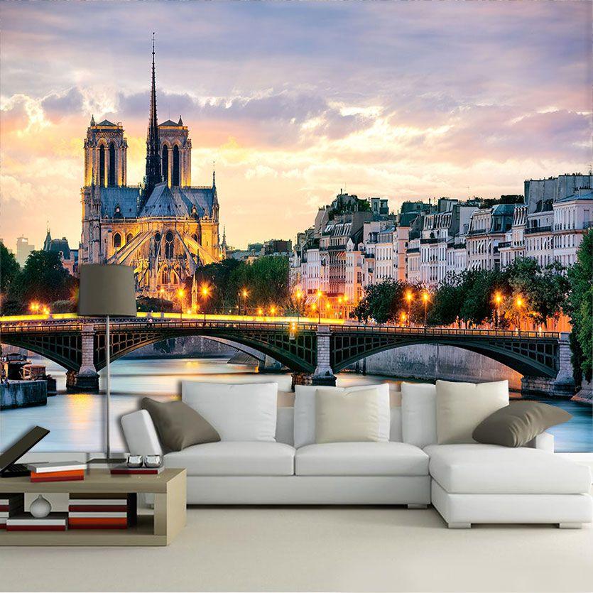 Papel De Parede 3D | Cidades França 0002 - Adesivo de Parede  - Paredes Decoradas