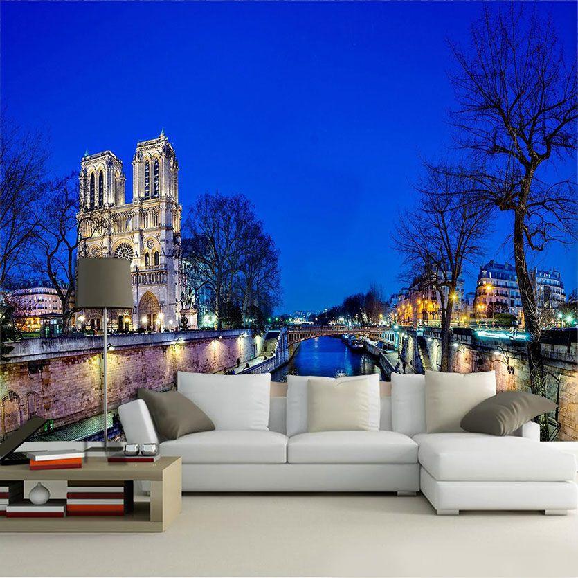 Papel De Parede 3D | Cidades França 0003 - Adesivo de Parede  - Paredes Decoradas