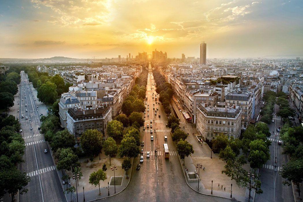 Papel De Parede 3D | Cidades França 0006 - Adesivo de Parede  - Paredes Decoradas