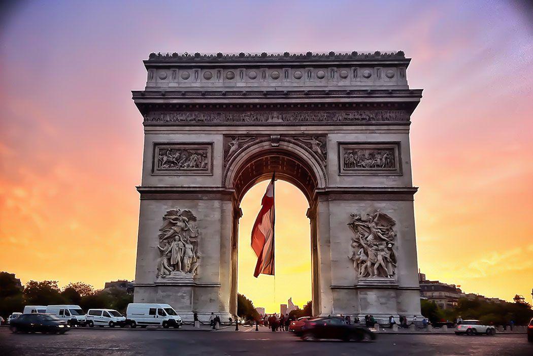 Papel De Parede 3D | Cidades França 0009 - Adesivo de Parede  - Paredes Decoradas
