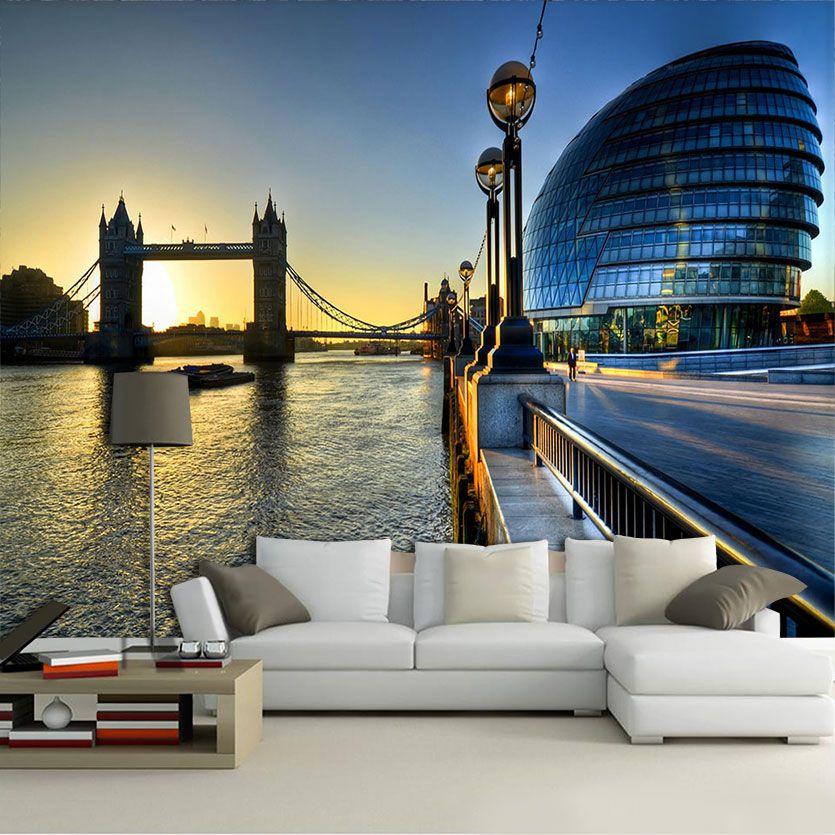 Papel De Parede 3D | Cidades Inglaterra 0002 - Adesivo de Parede  - Paredes Decoradas