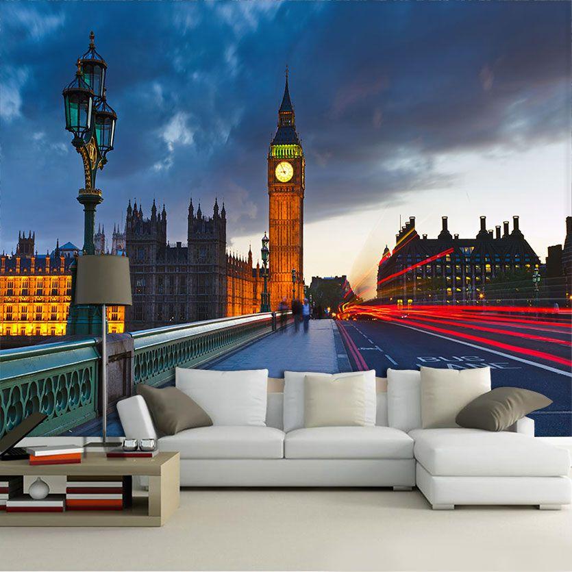 Papel De Parede 3D | Cidades Inglaterra 0005 - Adesivo de Parede