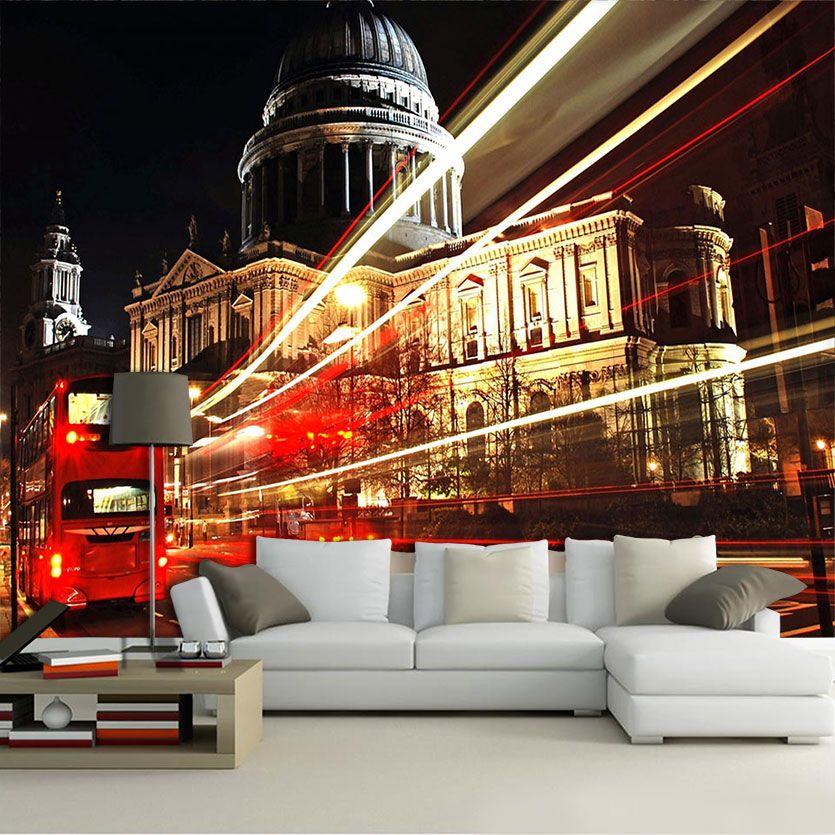 Papel De Parede 3D | Cidades Inglaterra 0006 - Adesivo de Parede  - Paredes Decoradas