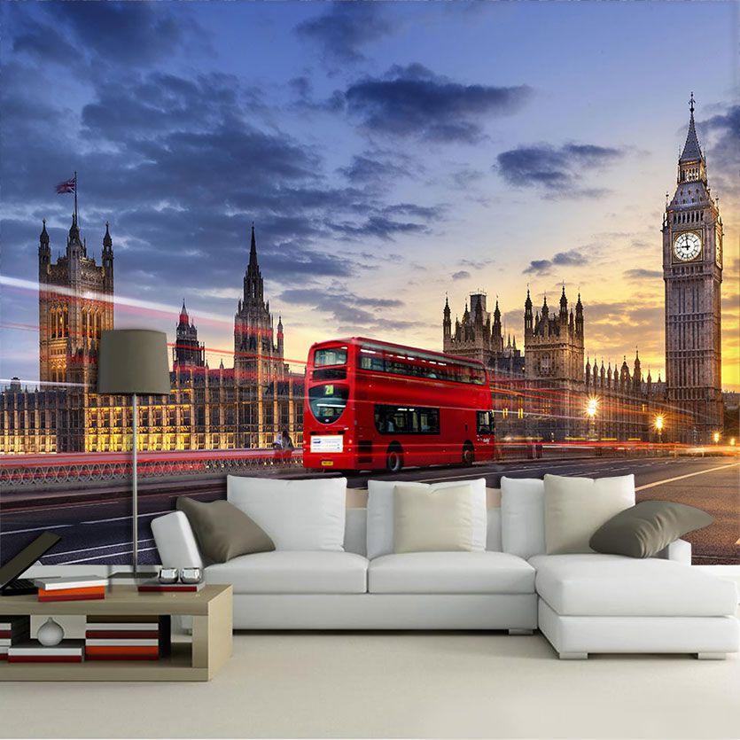 Papel De Parede 3D | Cidades Inglaterra 0007 - Adesivo de Parede  - Paredes Decoradas