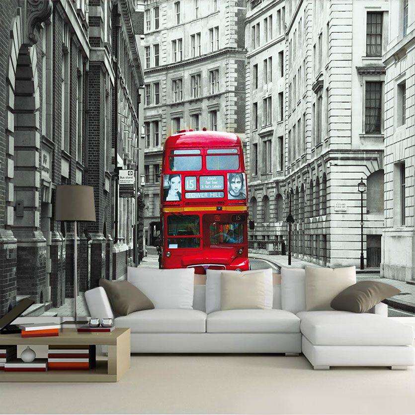 Papel De Parede 3D | Cidades Inglaterra 0010 - Papel de Parede para Sala  - Paredes Decoradas