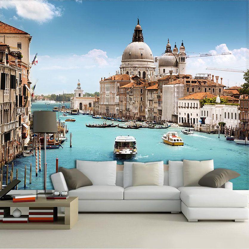 Papel De Parede 3D | Cidades Itália 0004 - Papel de Parede para Sala