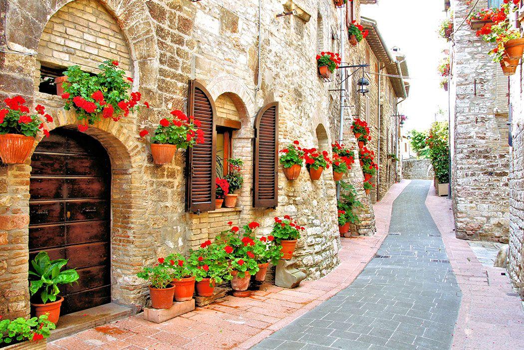 Papel De Parede 3D | Cidades Itália 0005 - Adesivo de Parede  - Paredes Decoradas