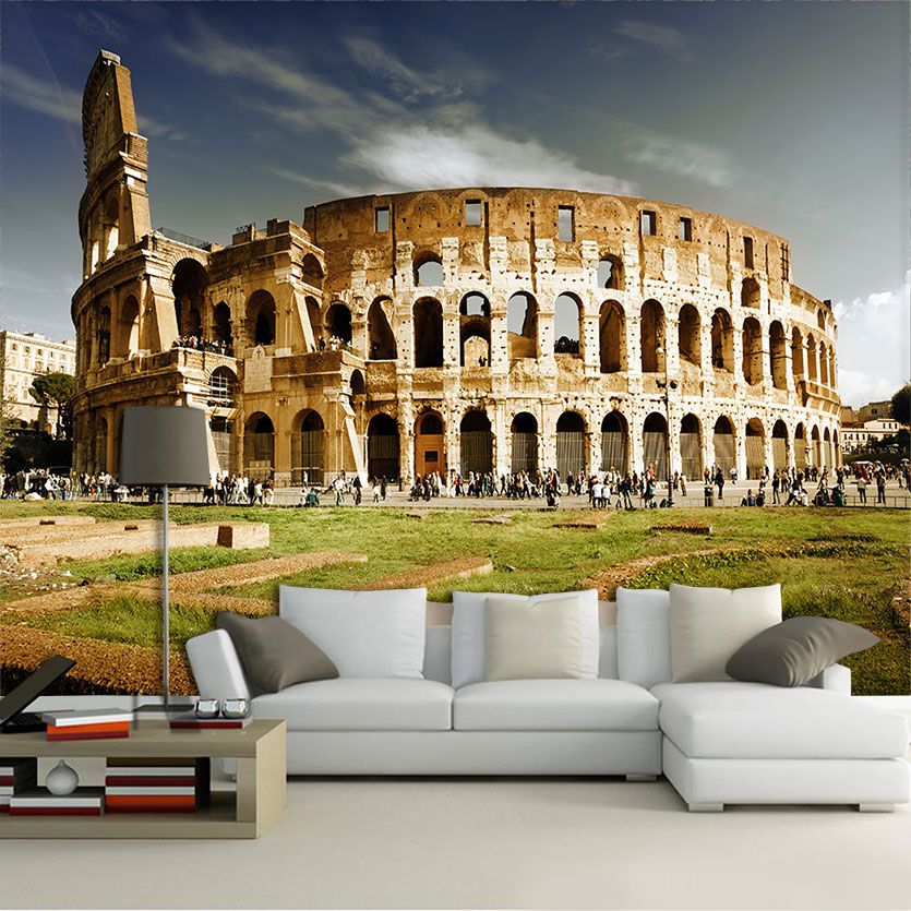 Papel De Parede 3D | Cidades Itália 0008 - Adesivo de Parede  - Paredes Decoradas