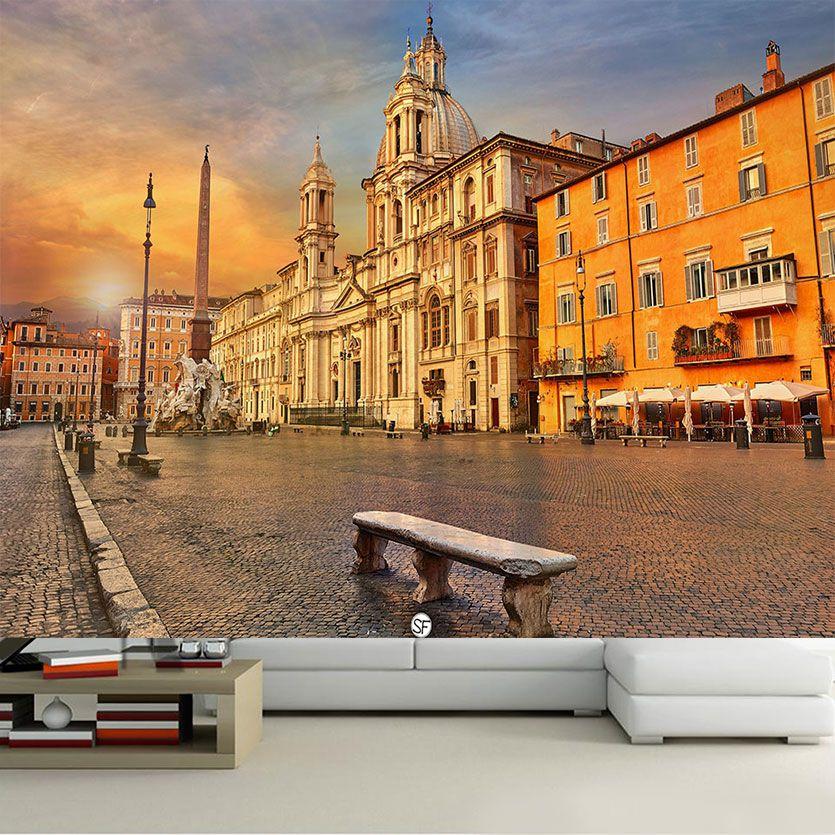 Papel De Parede 3D | Cidades Itália 0012 - Adesivo de Parede