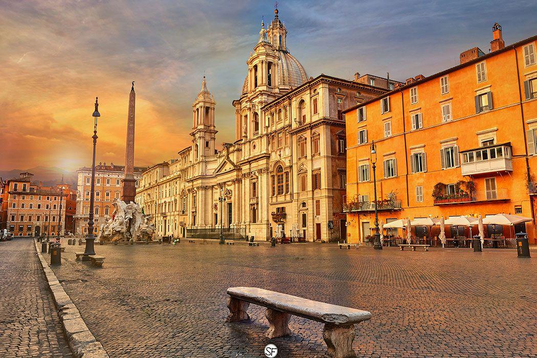 Papel De Parede 3D | Cidades Itália 0012 - Adesivo de Parede  - Paredes Decoradas