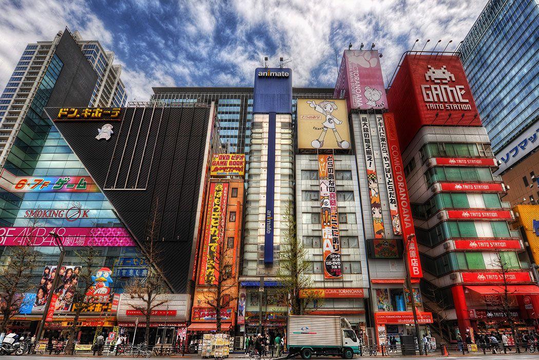 Papel De Parede 3D | Cidades Japão 0004 - Papel de Parede para Sala  - Paredes Decoradas