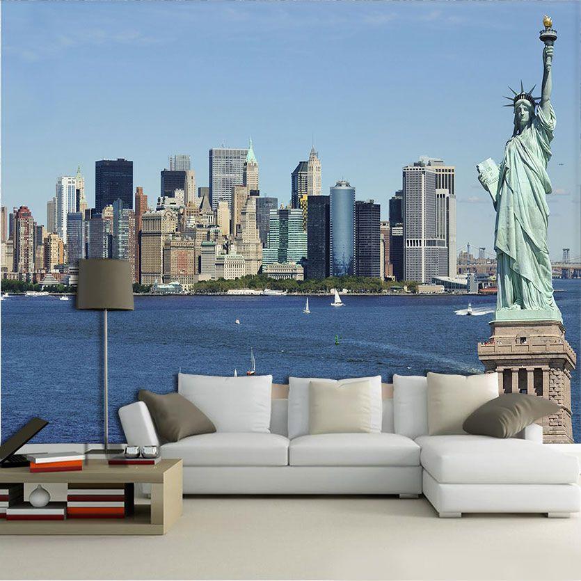 Papel De Parede 3D | Cidades Nova York 0001 - Papel e Parede