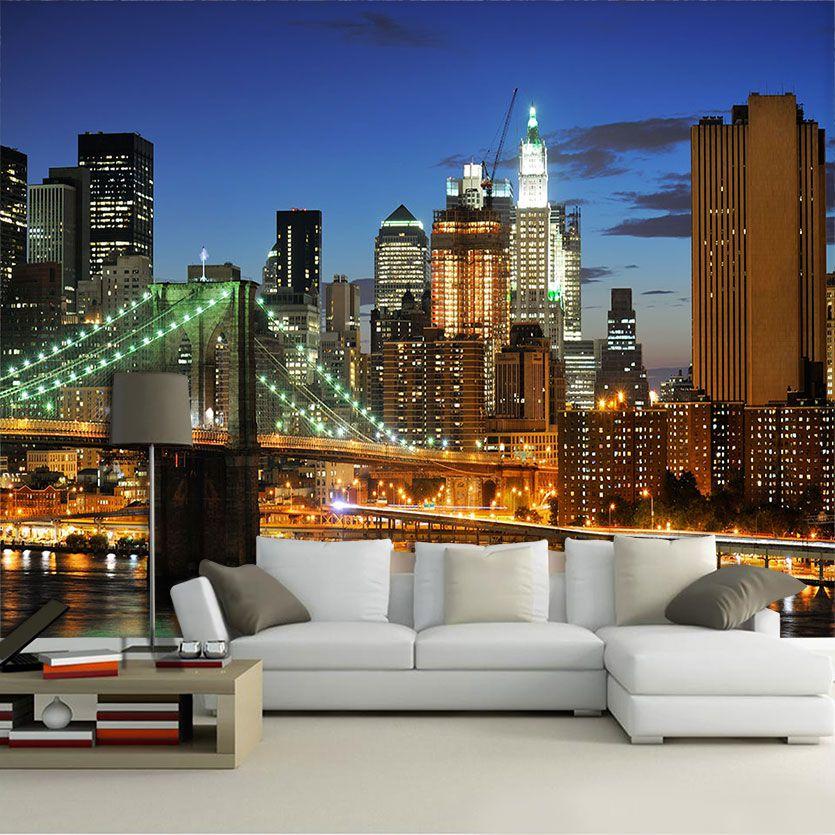 Papel De Parede 3D | Cidades Nova York 0002 - Papel e Parede