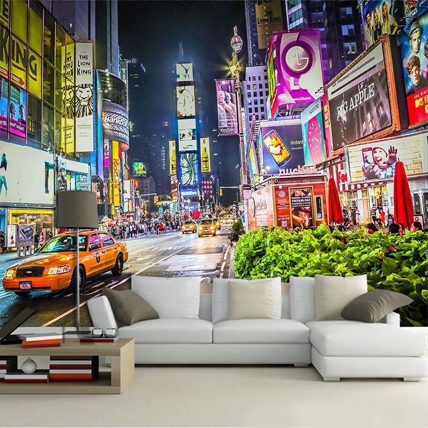 Papel De Parede 3D | Cidades Nova York 0003 - Adesivo de Parede  - Paredes Decoradas