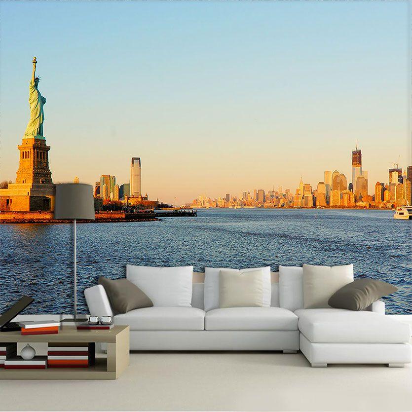 Papel De Parede 3D | Cidades Nova York 0004 - Adesivo de Parede
