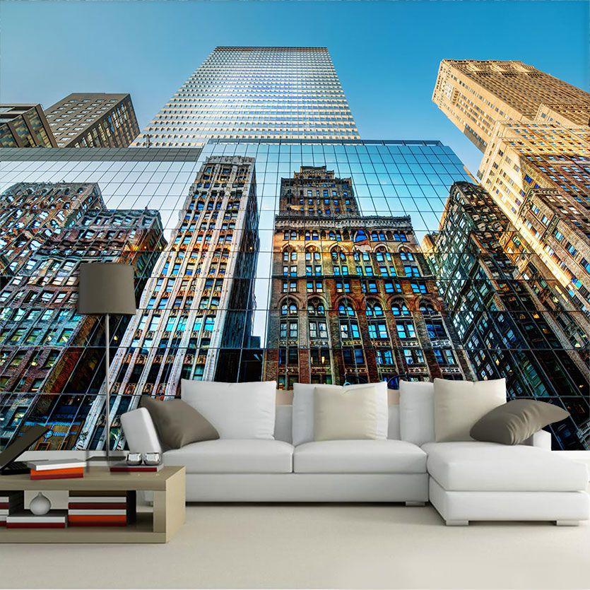 Papel De Parede 3D | Cidades Nova York 0005 - Adesivo de Parede