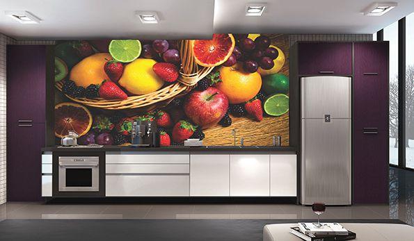 Papel De Parede Para Cozinha 0005 - Sobmedida: m²   - Paredes Decoradas