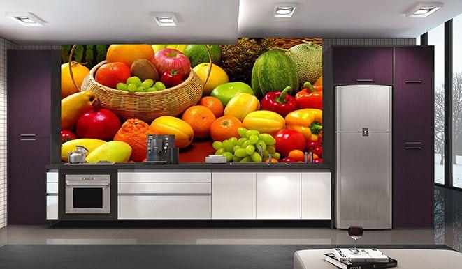 Papel De Parede Para Cozinha 0011 - Sobmedida: m²   - Paredes Decoradas