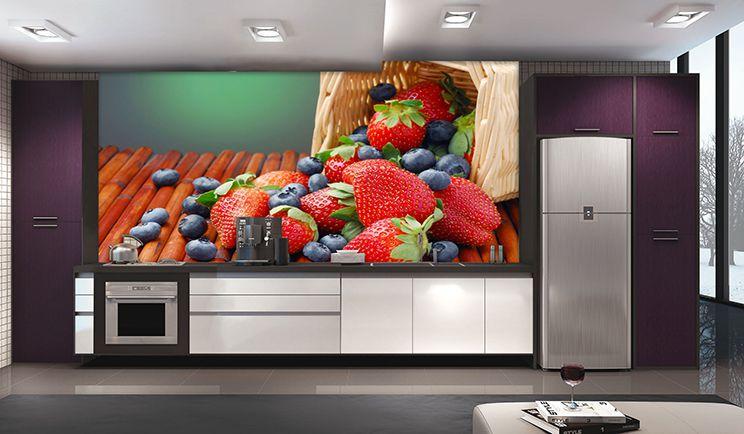 Papel De Parede Para Cozinha 0016 - Sobmedida: m²   - Paredes Decoradas