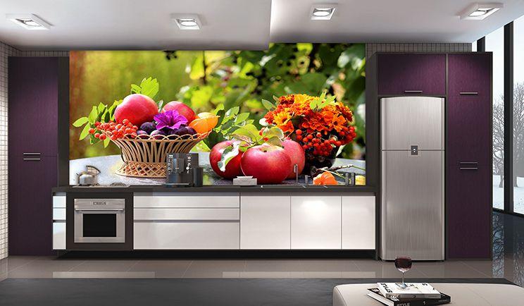 Papel De Parede Para Cozinha 0020 - Sobmedida: m²   - Paredes Decoradas